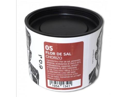 Flor de Sal con Chorizo 100 g.