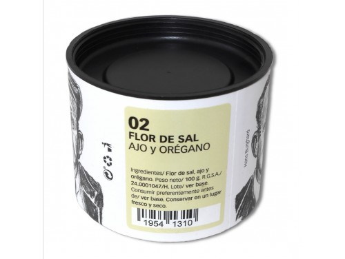 Flor de Sal con Ajo y...