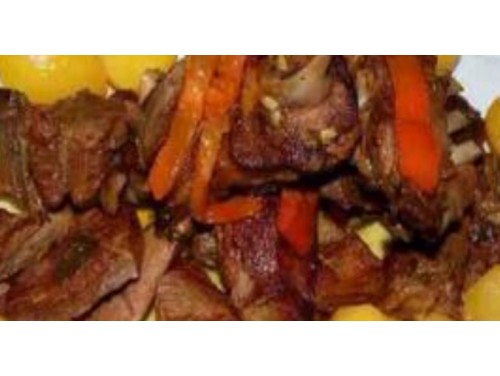 Carne asada con patatas